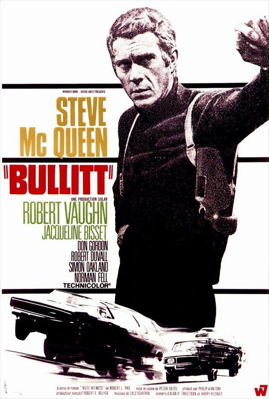 BULLITT Poster 27x40 inches Steve McQueen Classic Movie Poster