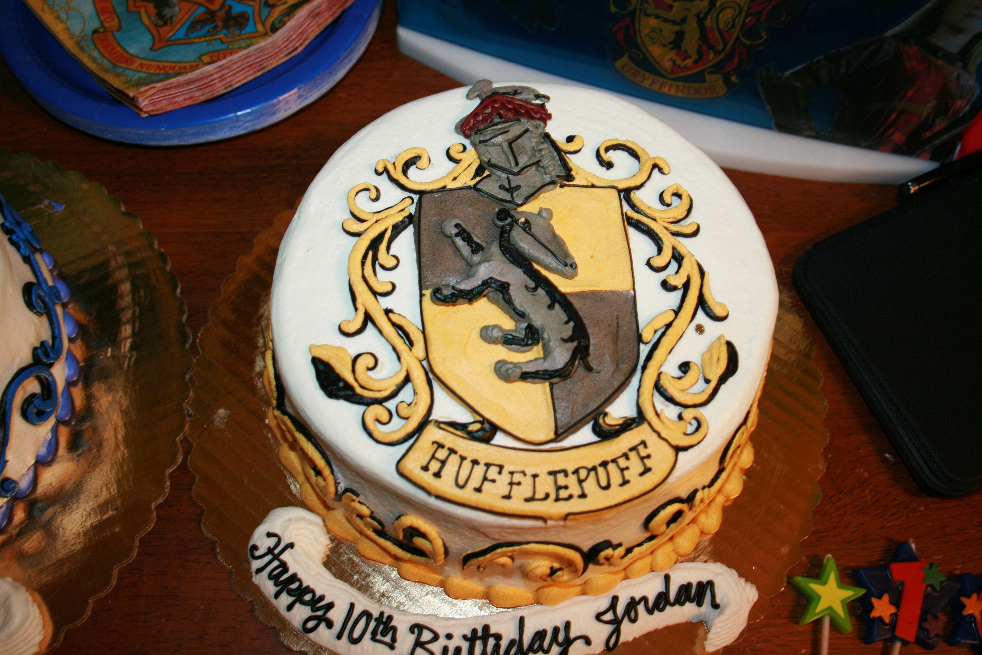 My sons Hufflepuff Birthday cake Harry Partty Pinterest