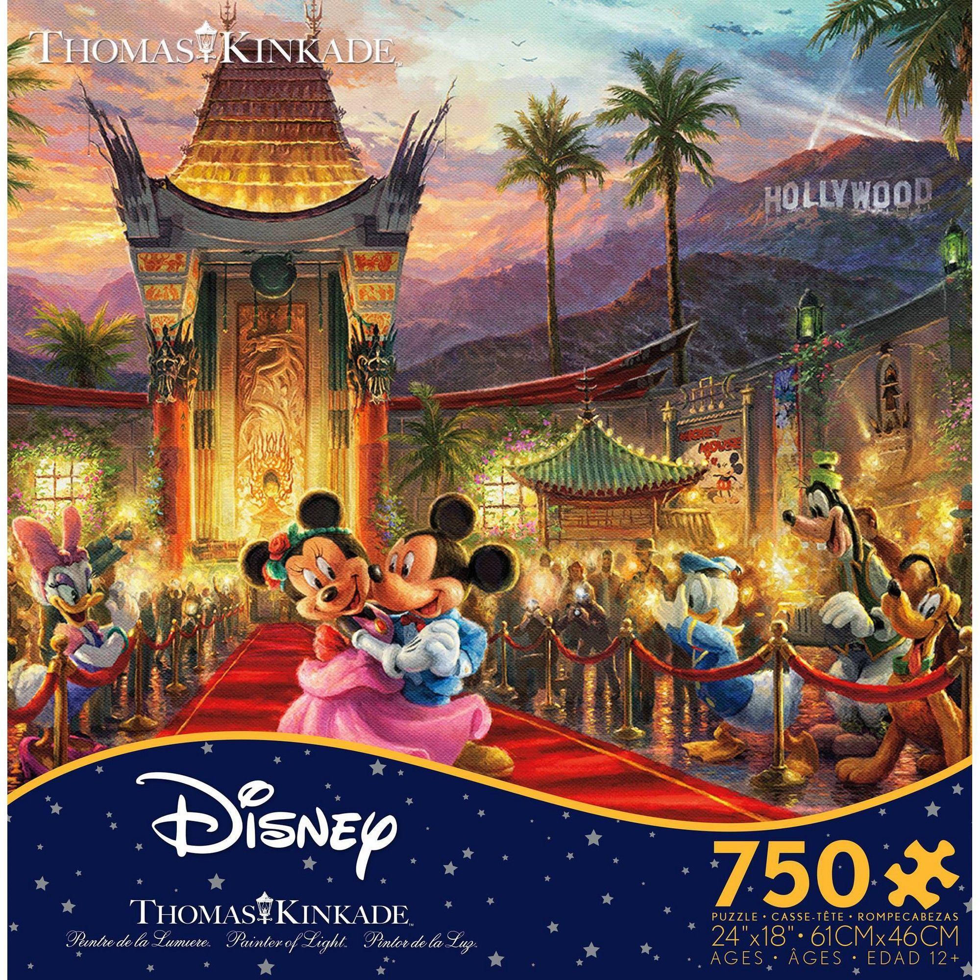 Disney Ceaco Thomas Kinkade Mickey Minnie Hollywwod 750 Pcs Puzzle New with Box