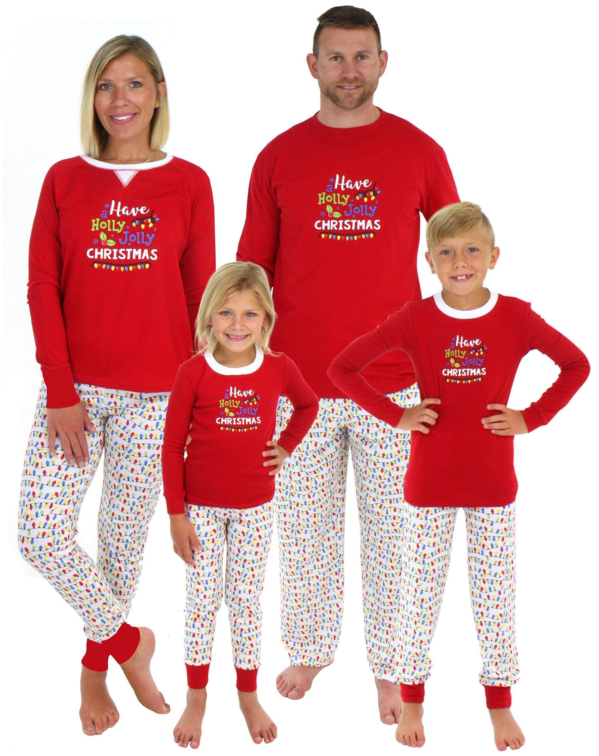 c872e01c01 Sleepyheads Family Matching Holly Jolly Christmas Lights Pajama PJ Sets