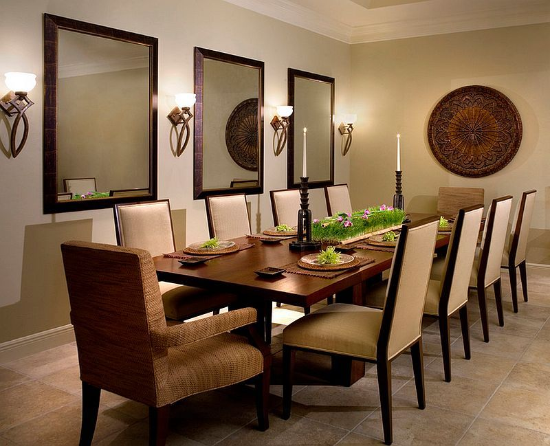 How To Use Wall Sconces Design Tips Ideas Mirror Dining Room Dining Room Wall Decor Dining Room Mirror Decor