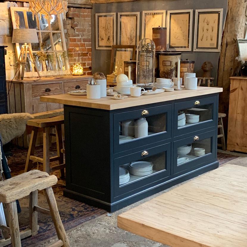 Freestanding Kitchen Island With Haberdashery Drawers