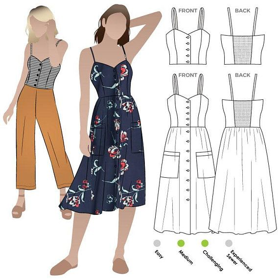 Style Arc Sewing Pattern - Ariana Woven Dress - Sizes 10, 12, 14 - Women's PDF Sewing Pattern #paperpatterns