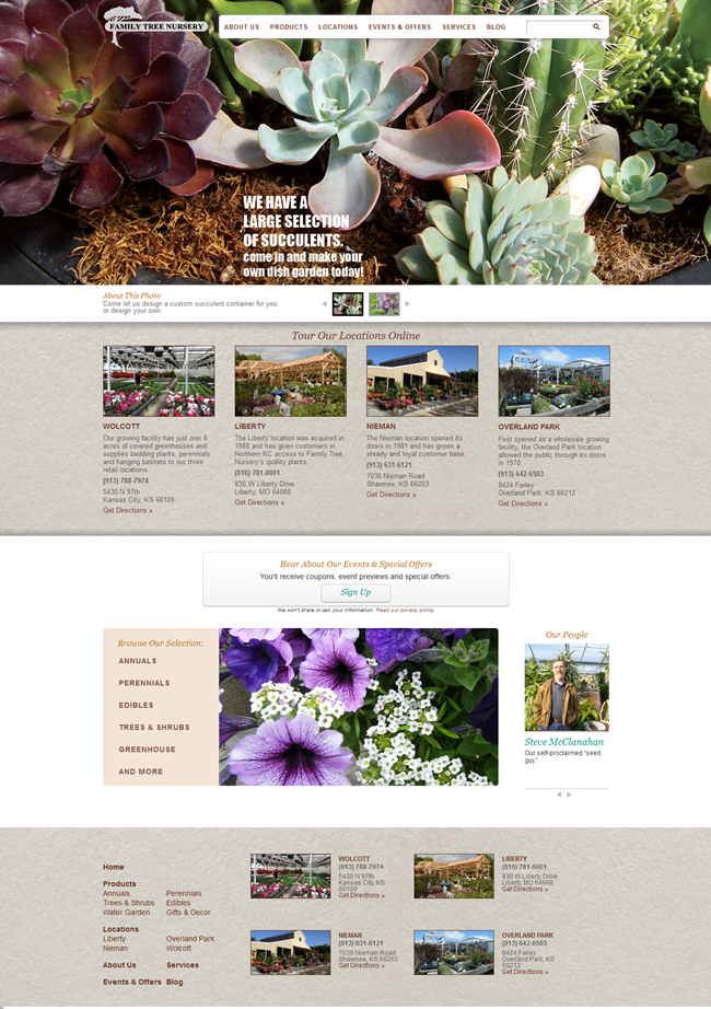 Eye Catching Plant Nursery Website