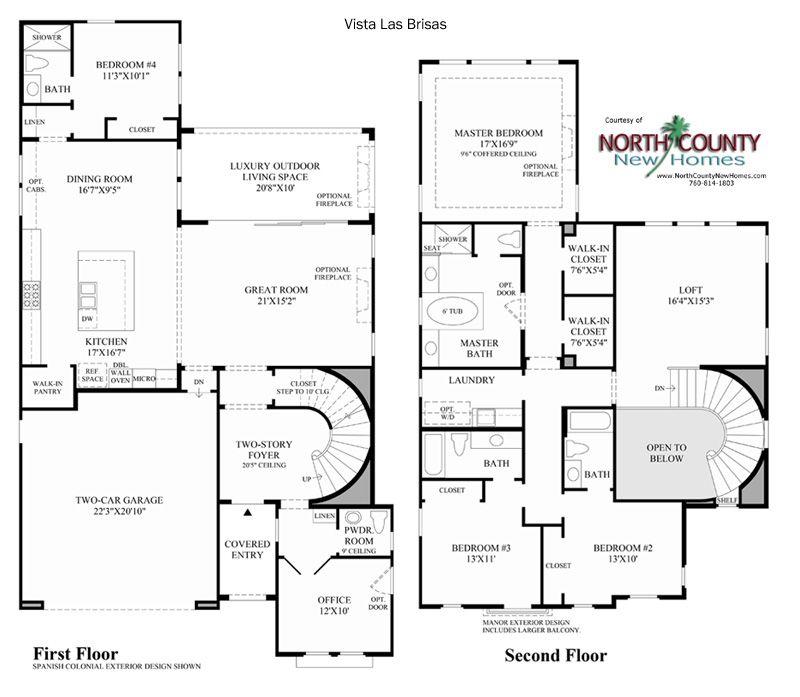 Vistas At Robertson Ranch Floor Plans Carlsbad New Homes