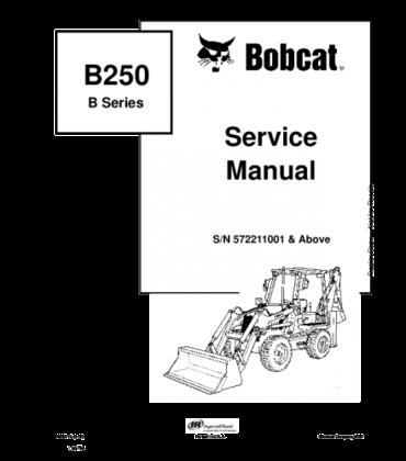 Bobcat b250 b series backhoe loader service repair manual