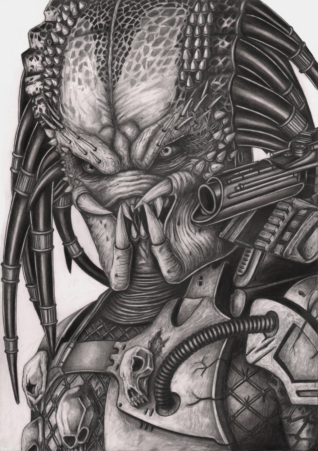 Predator graphite drawing by pen tacular artist deviantart com on deviantart