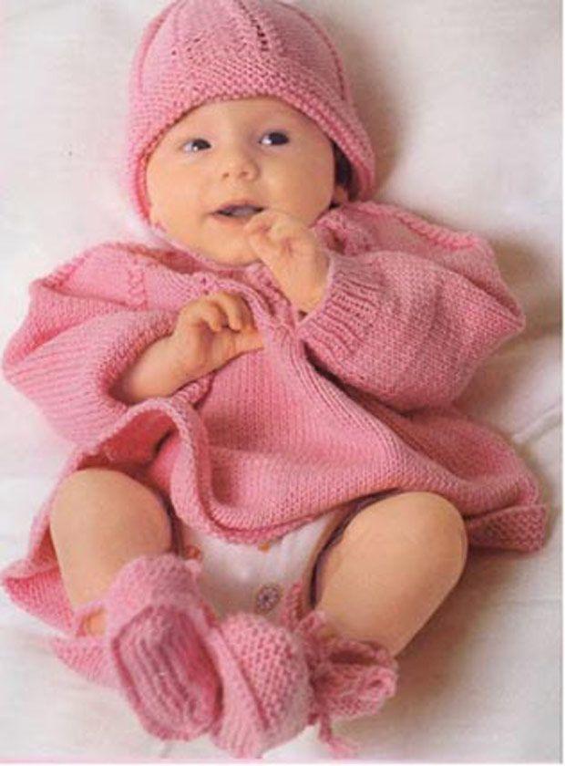 вязание спицами детям до года с описанием и схемами вязание для