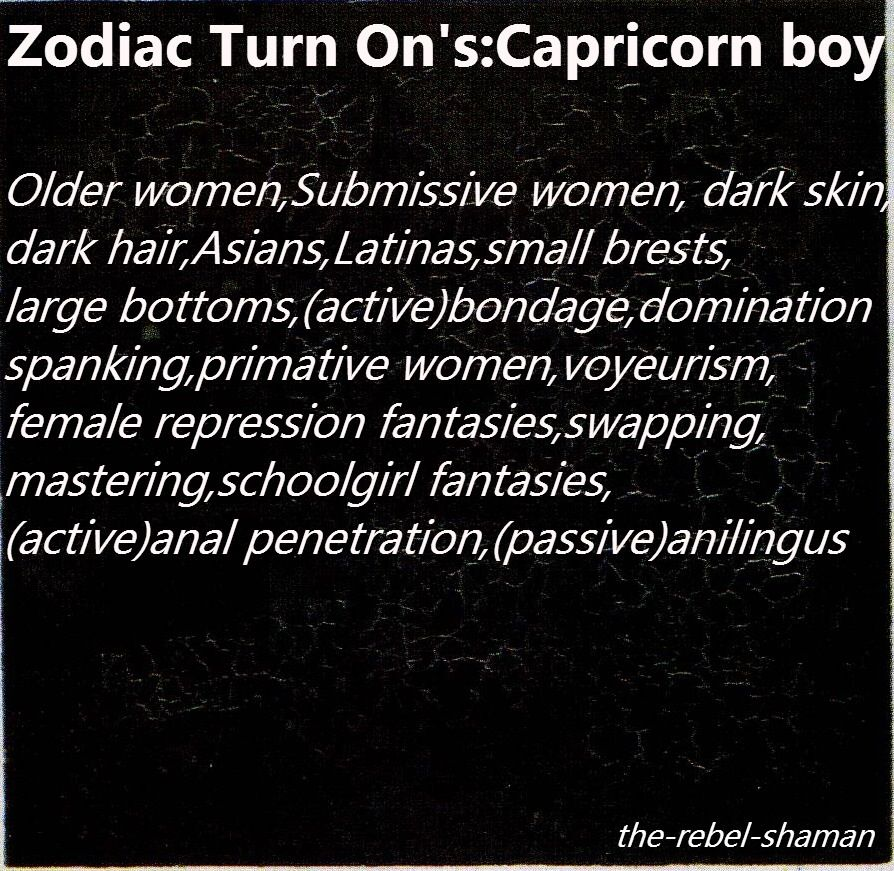 Capricorn man turn ons