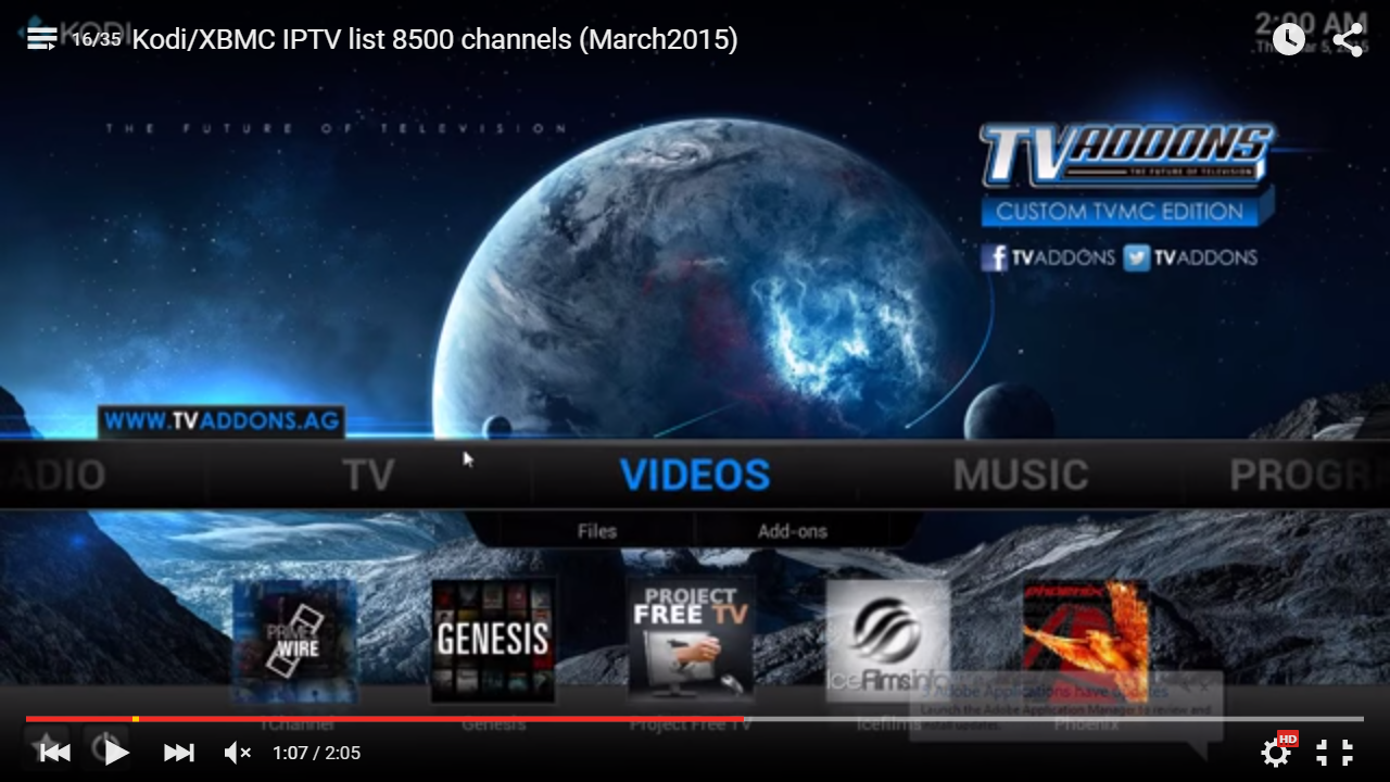 How to get a IPTV List of 8500 Channels for XBMC / Kodi TV
