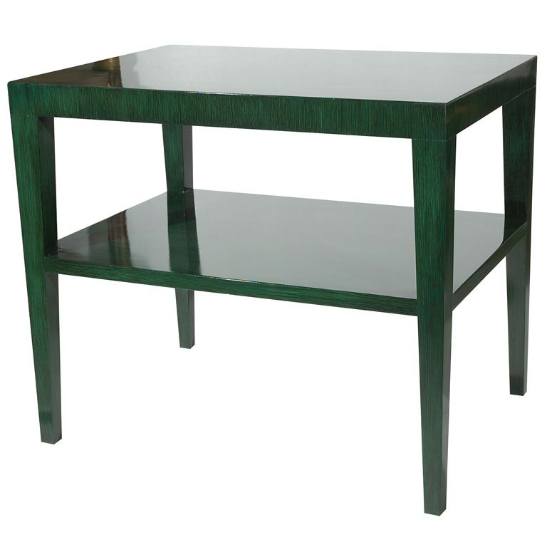 Hand Painted Two-Tier Side Table by William Haines