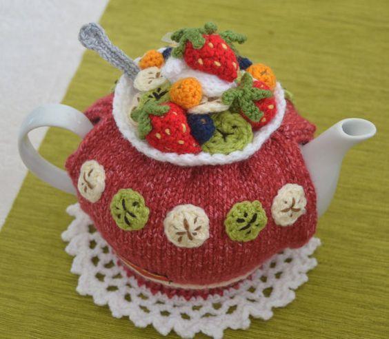 Fruit Salad Tea Cosy Pattern | Teekanne, Häkeln und Stricken