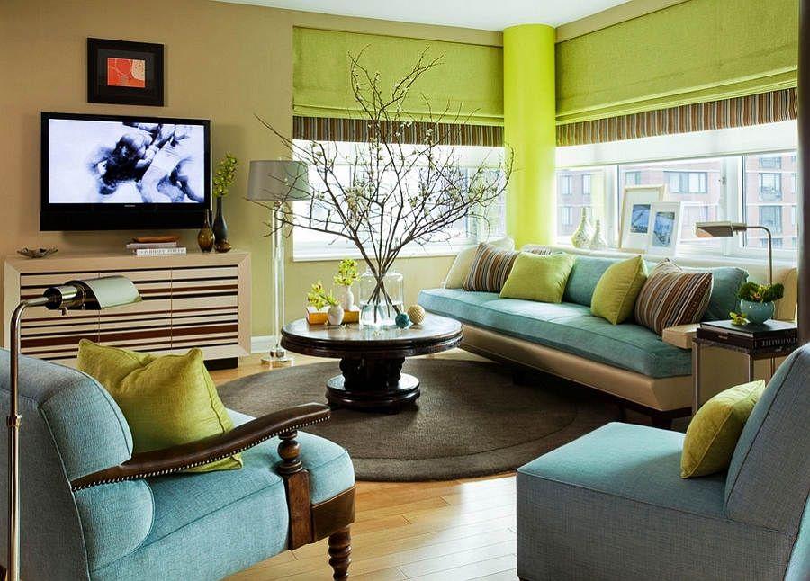 Hijau Turquoise Warna Cat Ruang Tamu Terkini