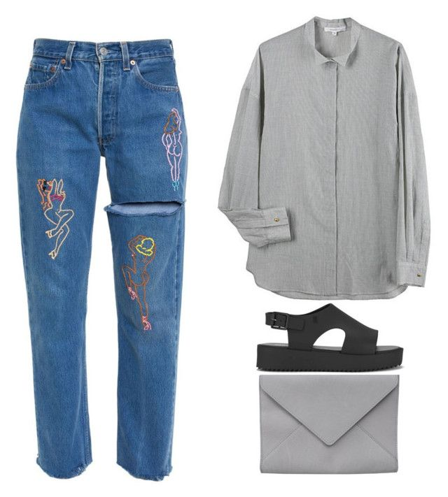 """ignore-"" by soja-nirvana ❤ liked on Polyvore featuring Vanessa Bruno, Ann Demeulemeester and Melissa"