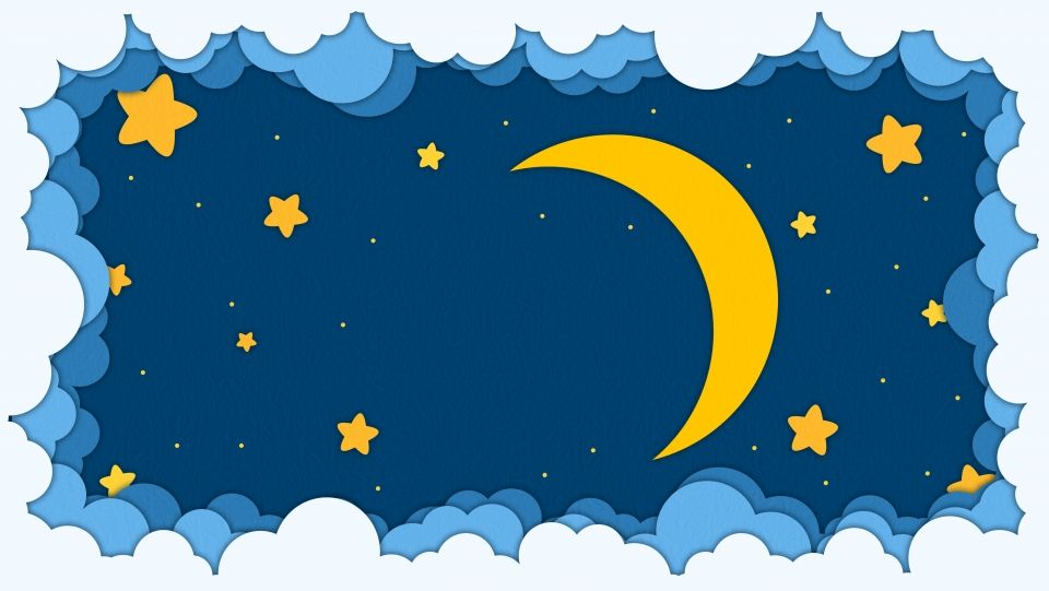 Latar Belakang Langit Bintang Malam Kartun Yang Comel Bintang Kartun Latar Belakang