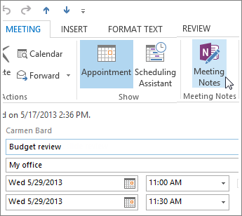 Linking Onenotes Meeting Notes To An Outlook Meeting  Digital