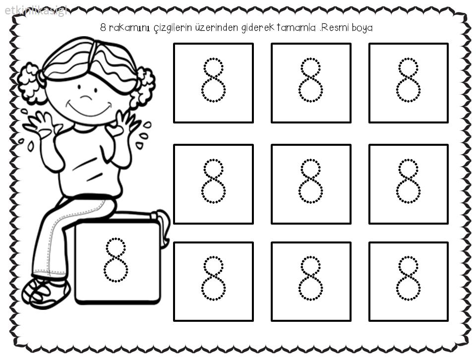 8 rakamı | etkinlikasigi working pages | Pinterest | Math and Worksheets