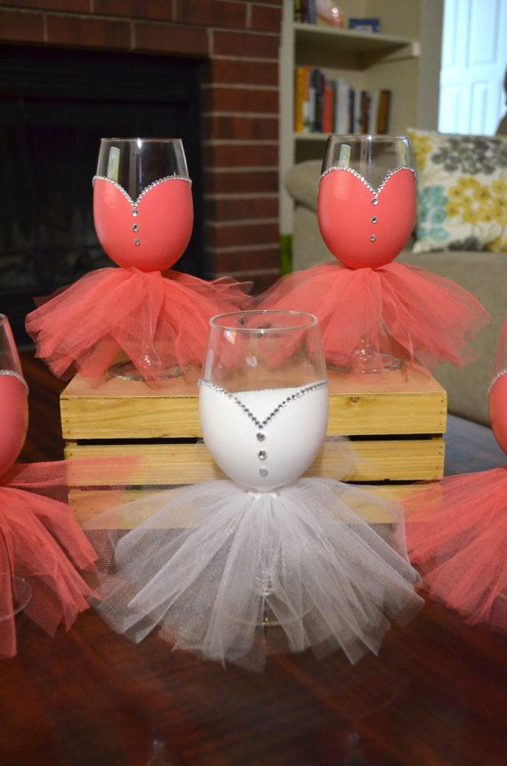 Bridal Party Wine Glasses Hand Painted by BarnandHeartDesign | wine ...