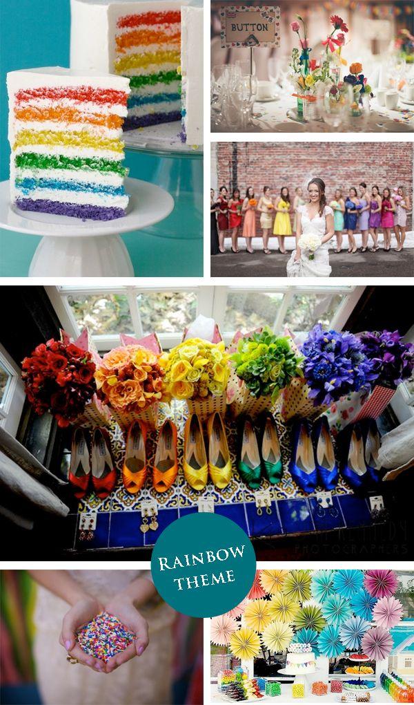 Rainbowtheme Colour Palette Wedding Decorations Multicolour Little