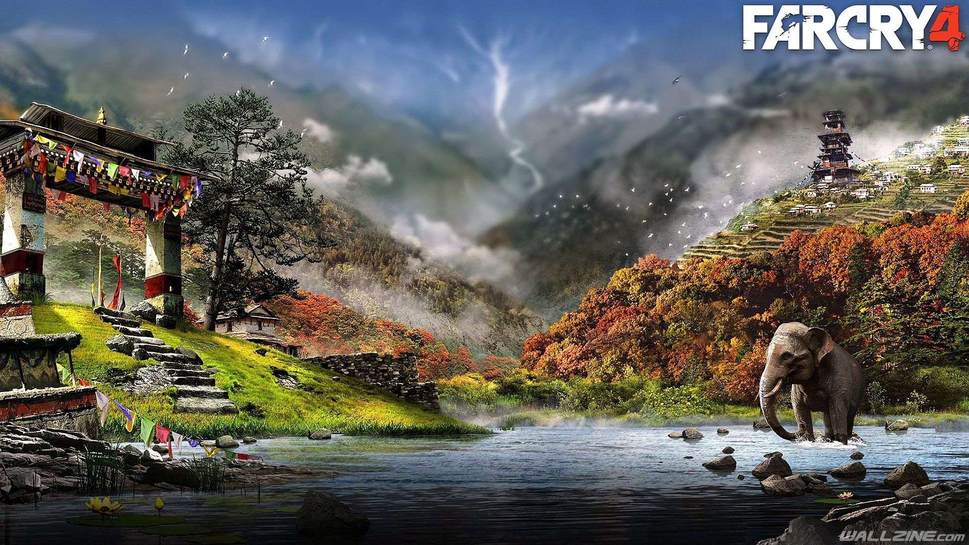 Far Cry 4 Wallpaper 4k In 2020 Landscape Wallpaper Far Cry 4 Landscape