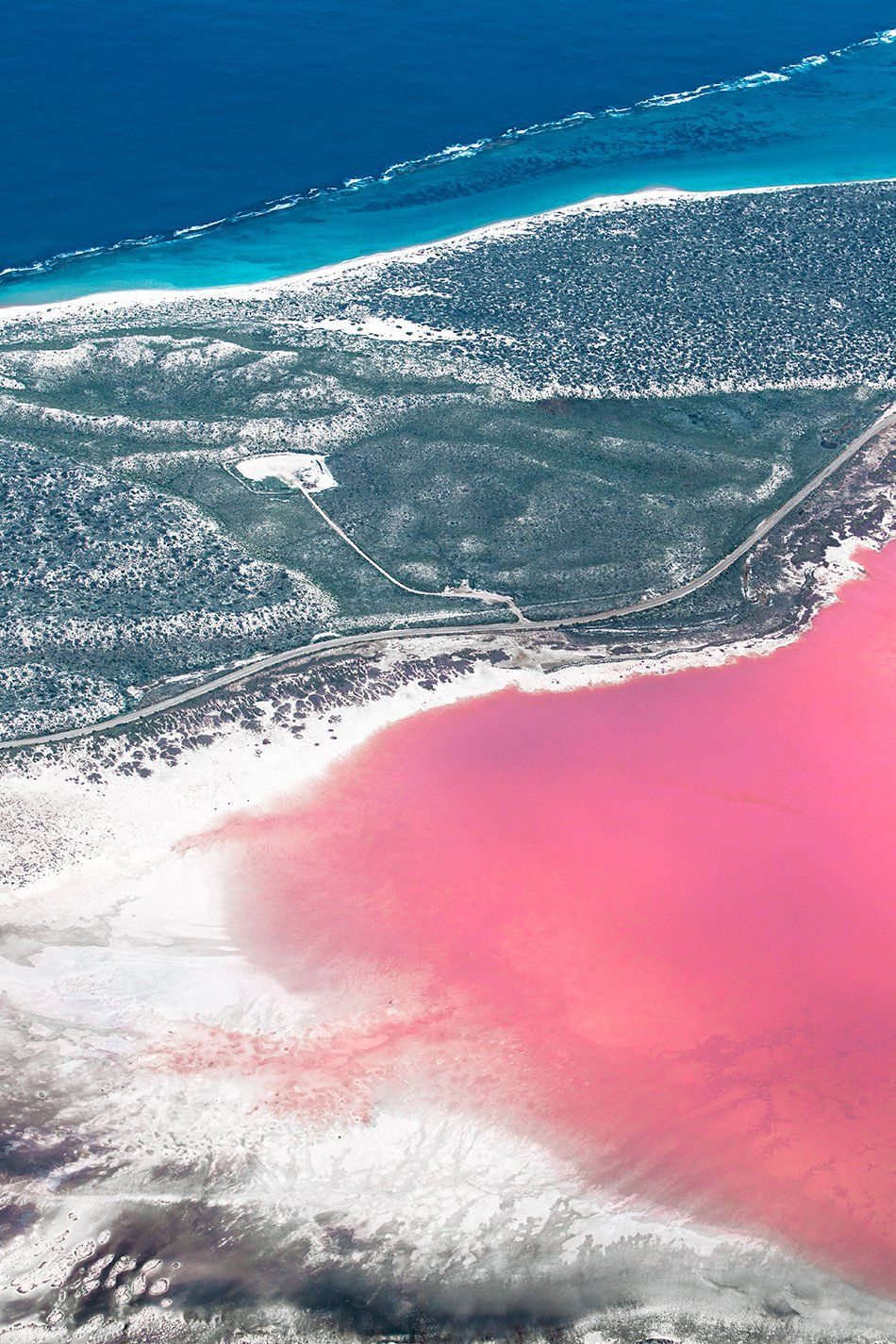 Western Australia The Hutt Lagoon Near Kalbarri And Pink Lake Hillier Esperance