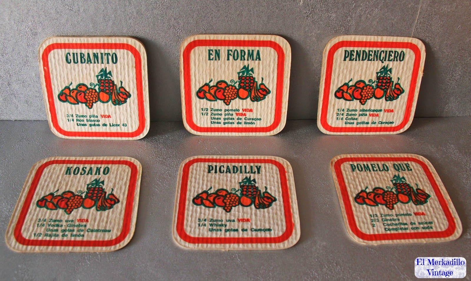 Posavasos vintage Zumos Vida (Ref. 0162)   El Merkadillo Vintage ...