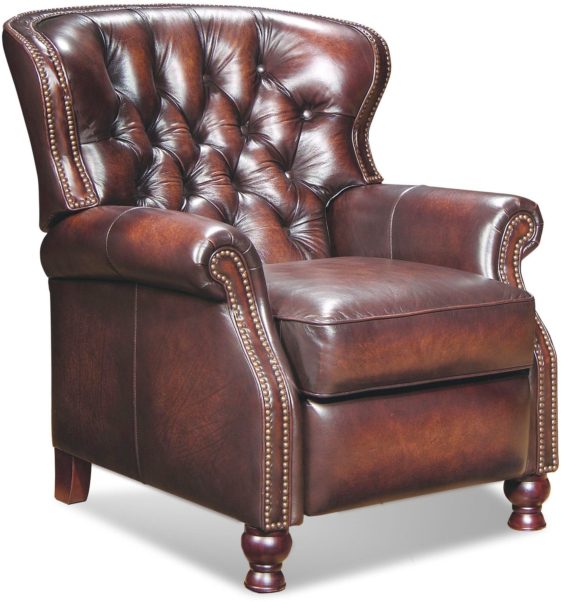 Laredo Brown Leather Dining Chair: Barcalounger Vintage Reserve Presidential II Recliner