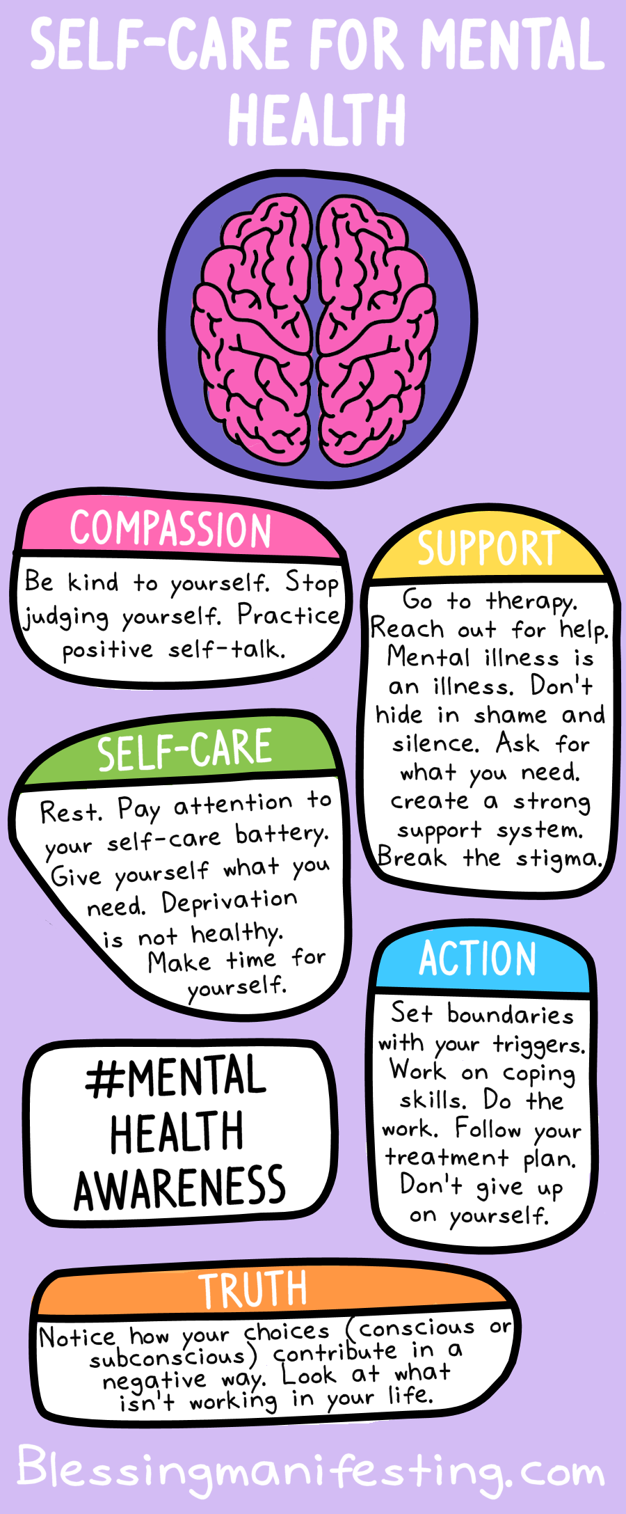 Self-Care for Mental Health - Blessing Manifesting