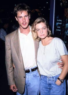 Erika Eleniak with desirable, Husband Roch Daigle