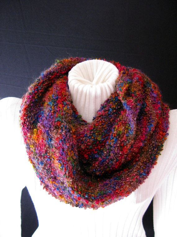 Mobius Cowl Hand Knit in Mohair and Wool Boucle by BChanesKnits ...