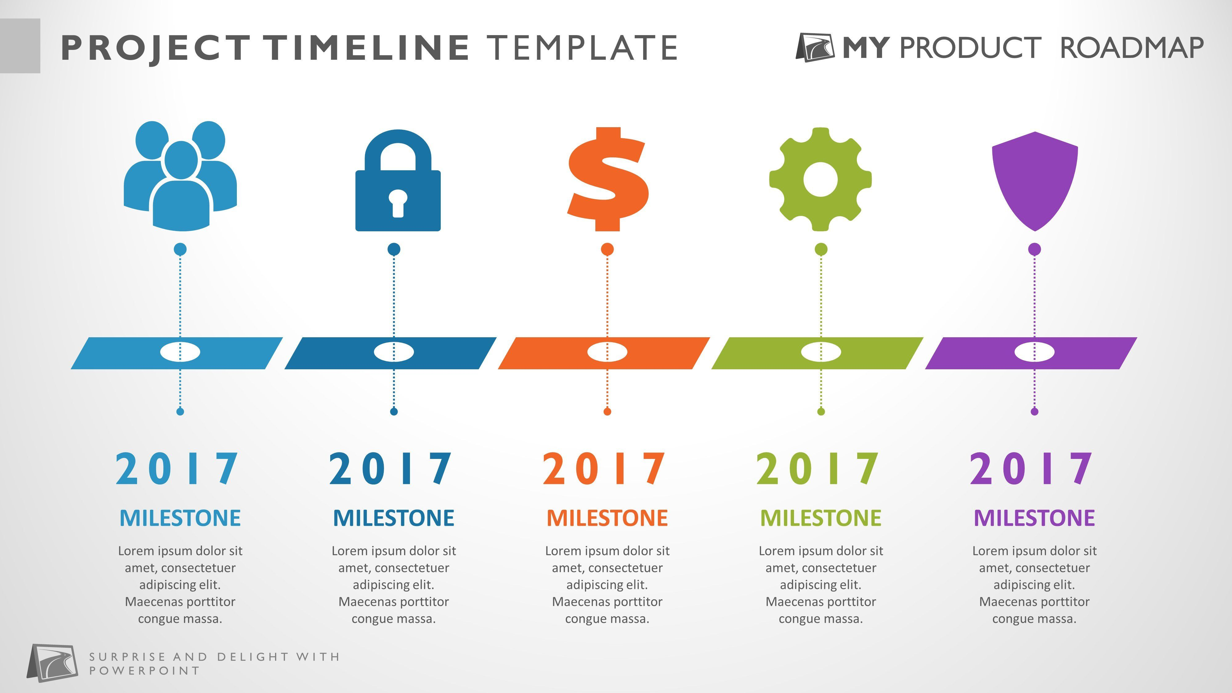 project management infographic timeline template in 2020