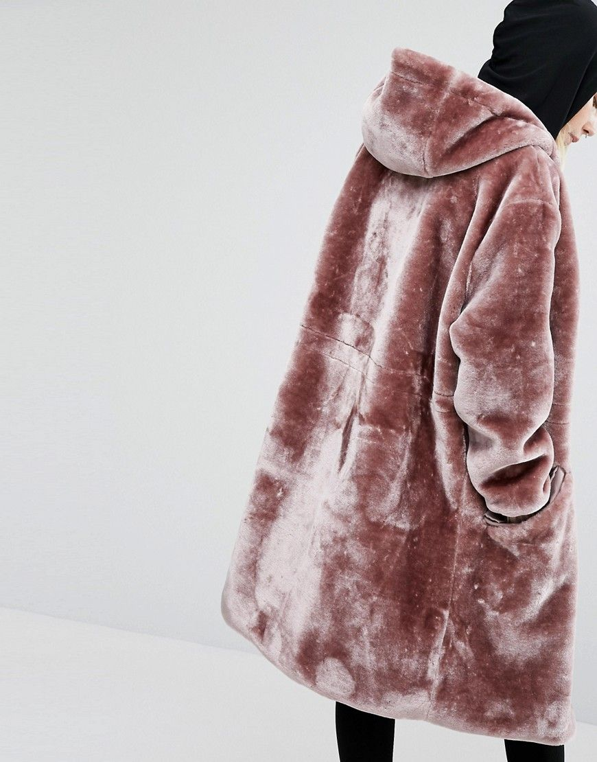 Story Of Lola Oversized Parka Jacket In Faux Fur at asos.com More 515cff5ae