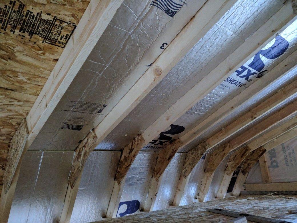 Cathedral ceiling insulation rigid board 2 inch r13