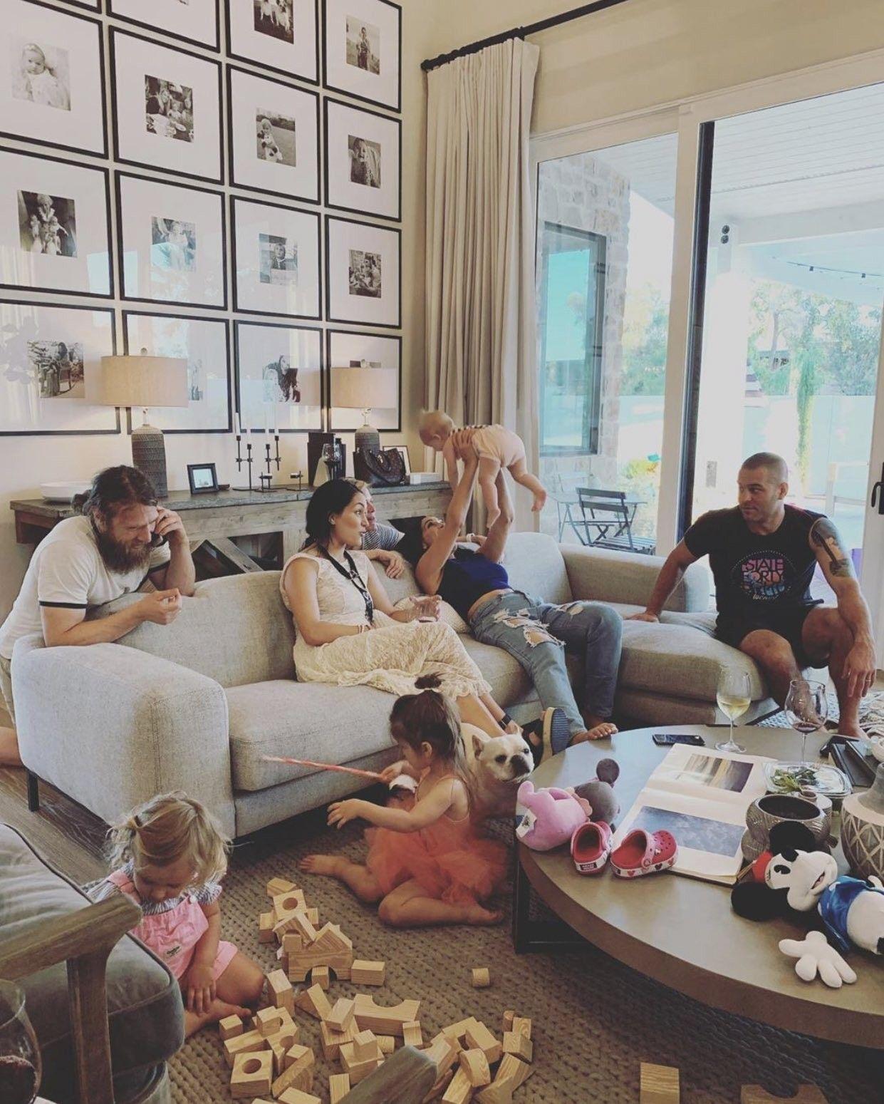 Birdie Joe Danielson, Mommy Brie Bella, Daddy Daniel Bryan, Aunt ...