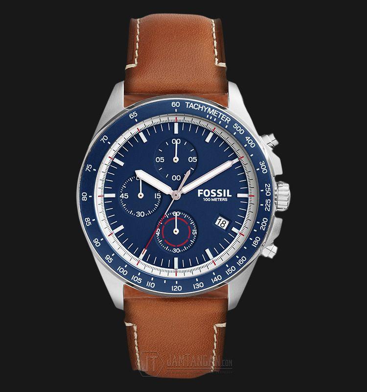 Rm510 jam tangan Fossil CH3039 Men Sport 54 Chronograph Blue Dial Light  Brown Leather Strap - Daftar Harga jam termurah 1116bcc244