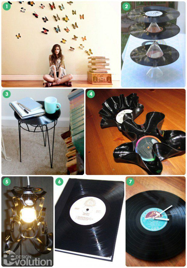 Diy Thursday Upcycled Vinyl Record Crafts For World
