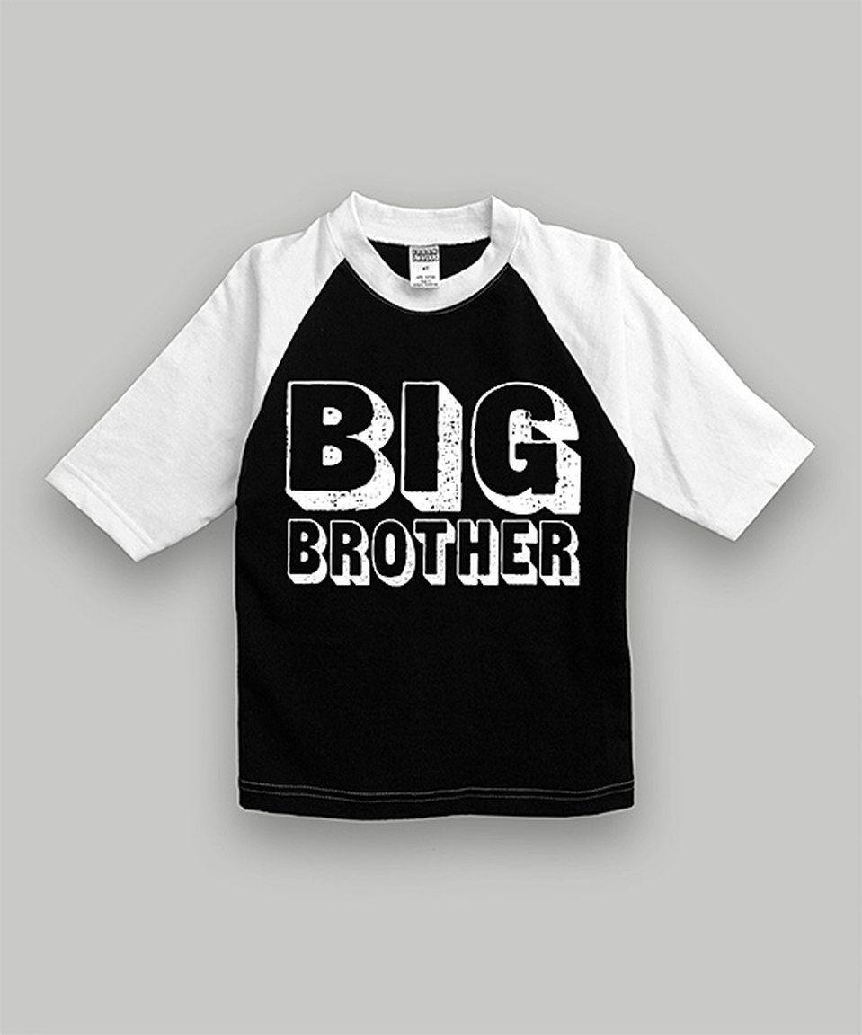 d380d6baeb6 Urban Smalls Black  Big Brother  Raglan Tee - Toddler   Boys by Urban  Smalls  zulilyfinds