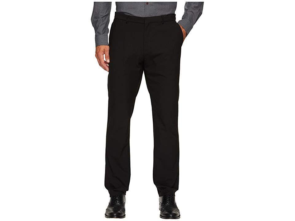 8b66e417cfa4 Calvin Klein Slim Fit Fine Cord Stripe Bi-Stretch Pants (Black) Men s Casual