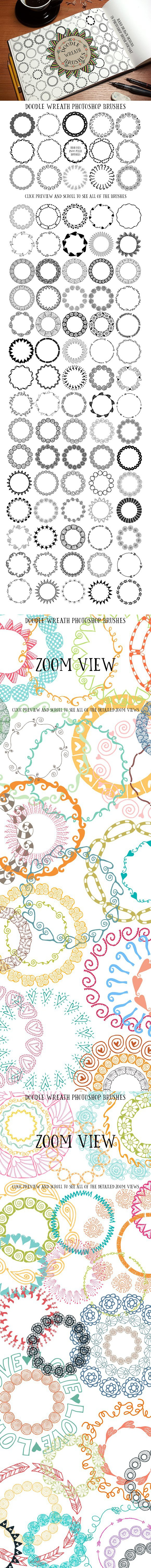 90 Doodle Wreath Photoshop Brushes : door photoshop brushes - pezcame.com