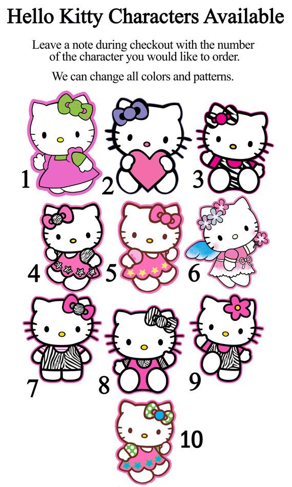 DIY 12 Small Hello Kitty Birthday Party by SMARTIESPARTIES on Etsy ...