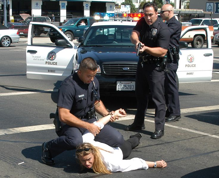The Los Angeles Police Department Arresting A Suspect Los Angeles Police Department Lapd Awkward Pictures