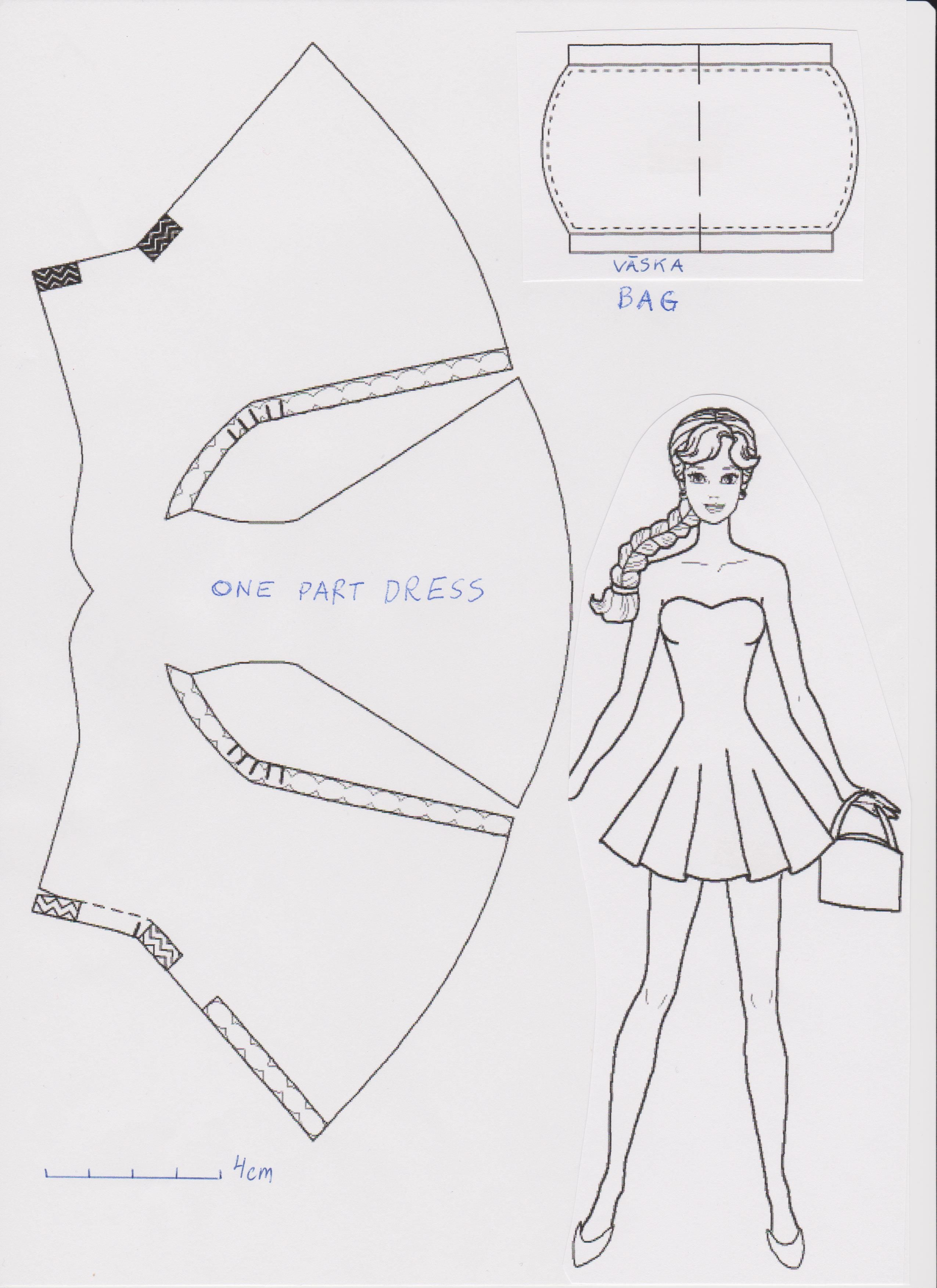 It is a picture of Impertinent Free Printable Barbie Clothes Patterns