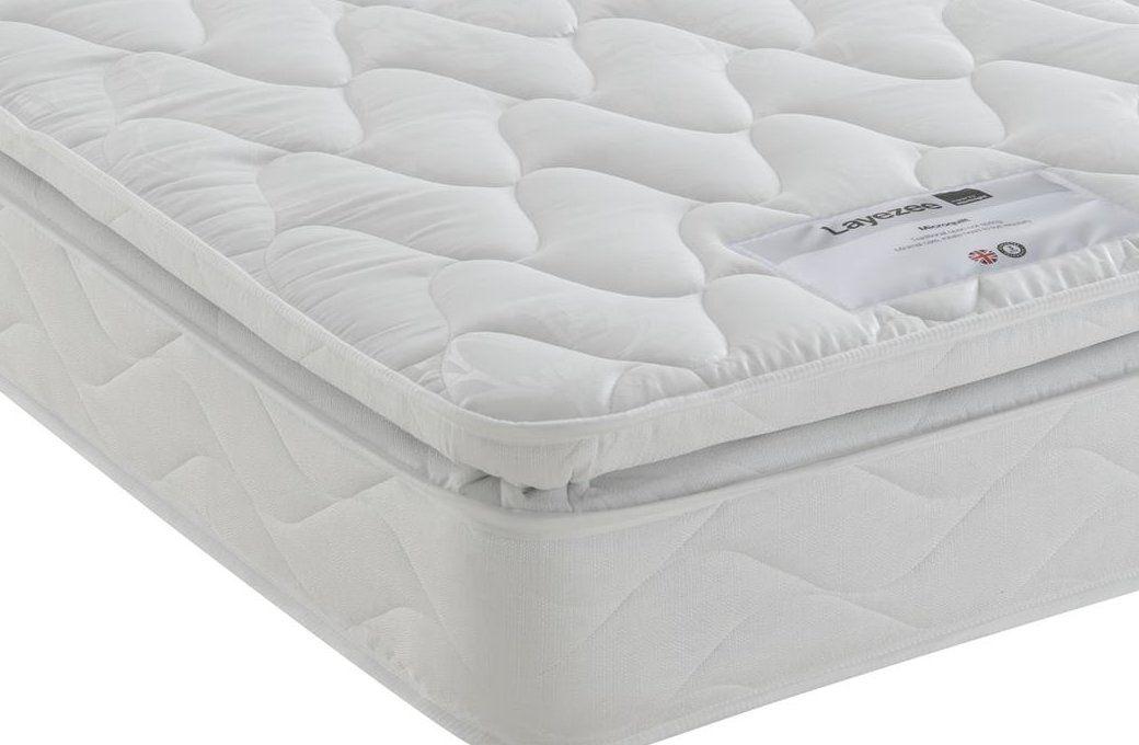 Layezee Pillow Top Open Coil Mattress Mattress, Pillow
