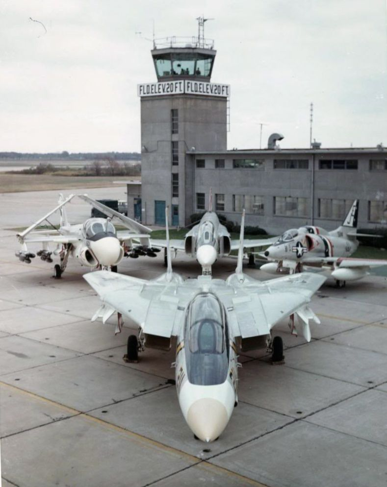 "flytofight: ""Naval Air Station Oceana once upon a time featuring: Grumman Tomcat Grumman Intruder McDonnell Douglas Phantom ii Douglas Skyhawk … all retired ..."