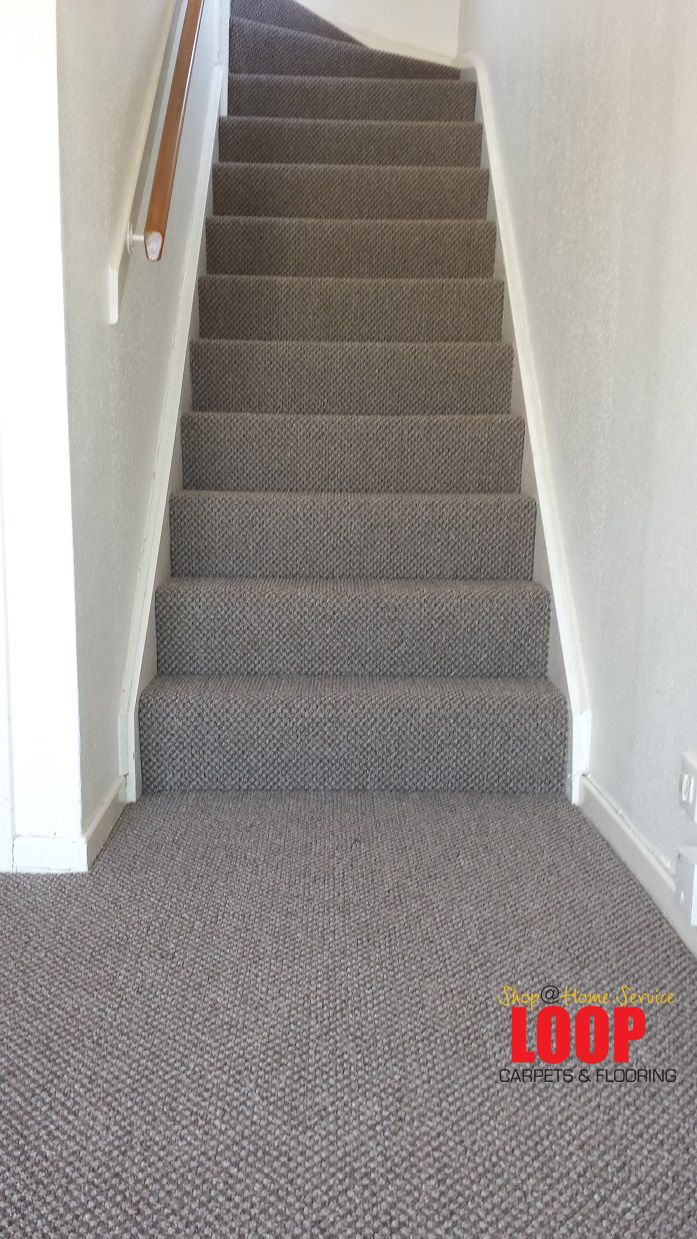 Heavy Domestic Carpet In Country Grey Ideal For Stairs And