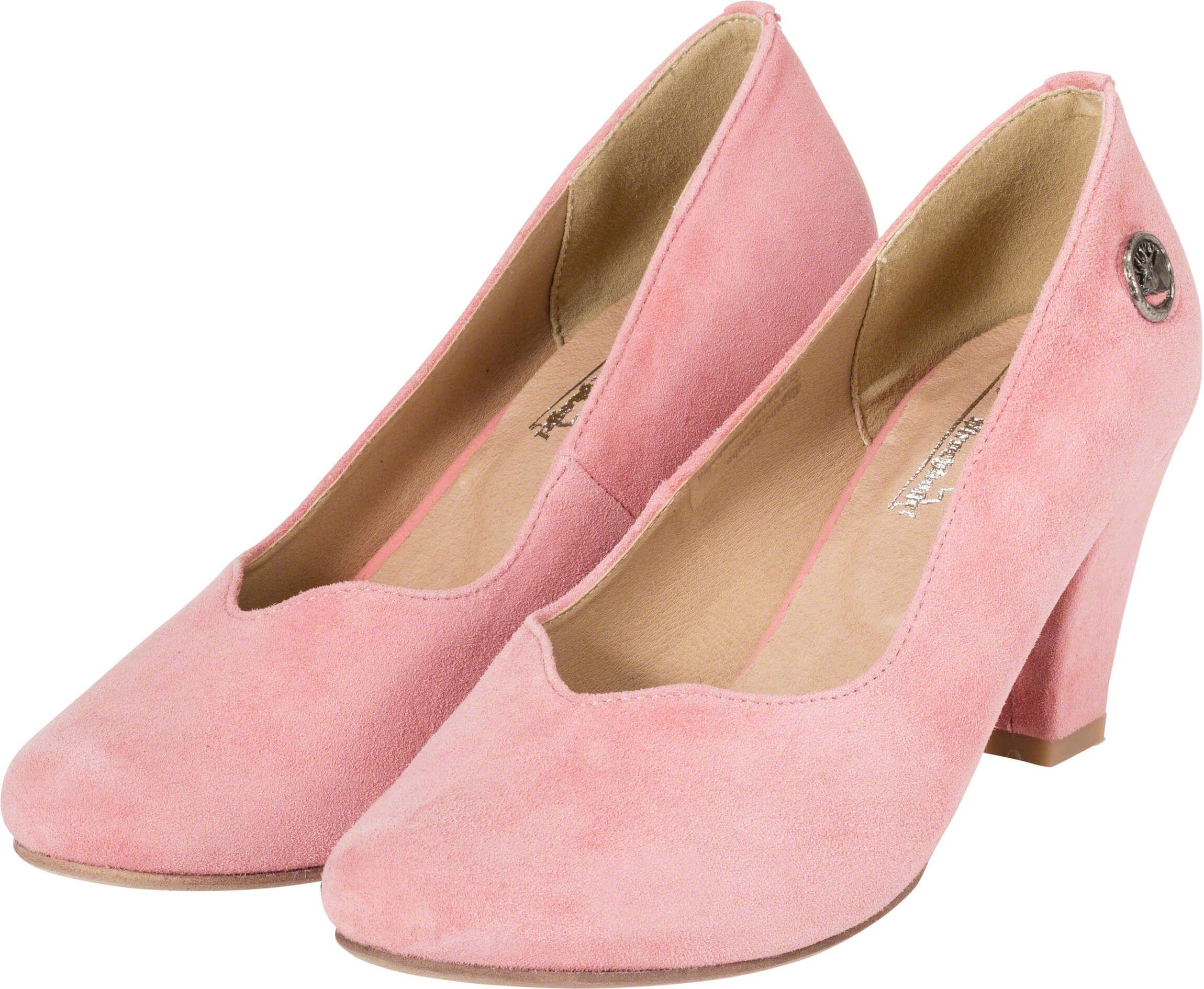 cb921a9e704aa1 Trachtenschuhe für Damen in Rosa Dirndl-Schuhe mit bequemem Absatz  Trachtenpumps