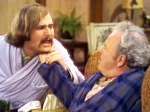 Classic scene from All in the Family!   All in the family
