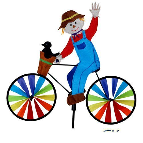 """20"""" Scarecrow on a Bicycle Garden Spinner Premier Kites & Designs http://www.amazon.com/dp/B007CL7QEI/ref=cm_sw_r_pi_dp_4cGfub1Y83T73"""