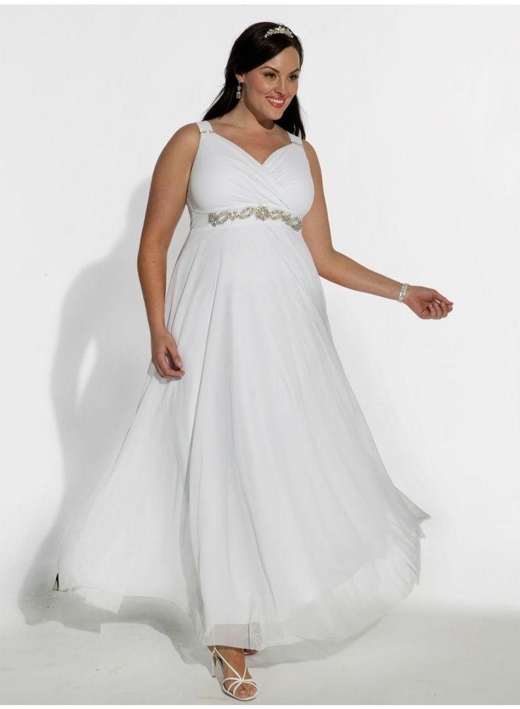 Modelos de vestidos de boda civil para gorditas