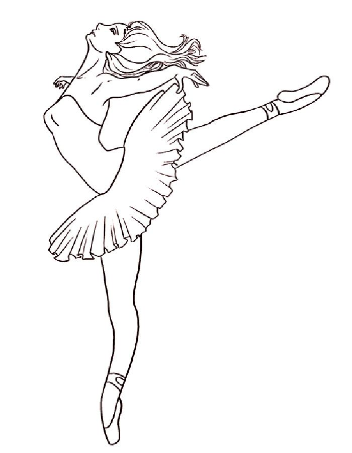 Человек в движении раскраска | Рисунок балерины, Рисование ...